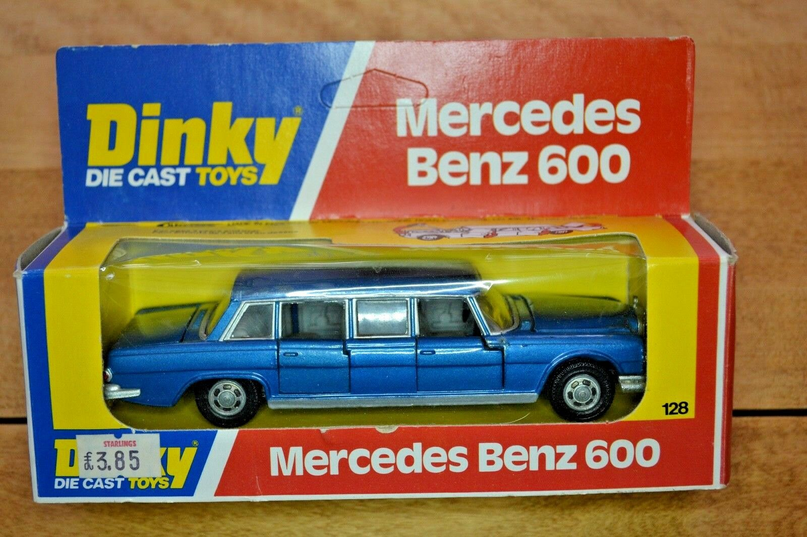 Vintage Dinky No 128 Mercedes Benz 600 Limousine; Original Box