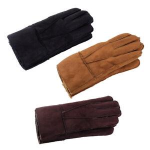 schaffell handschuhe mit finger winter warm damen herren. Black Bedroom Furniture Sets. Home Design Ideas
