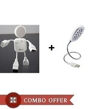 4 Port Hi-Speed USB Man Hub + USB Powered 13 LED Bright Light (Combo Offer)