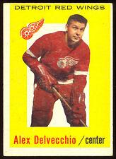 1959 60 TOPPS HOCKEY #8 ALEX DELVECCHIO EX-NM DETROIT RED WINGS HOF CARD