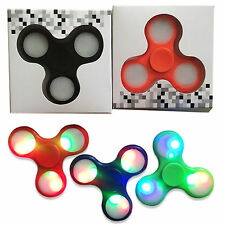 100x WHOLESALE LOT LED HAND SPINNER TRI FIDGET TOY EDC FINGER LIGHT GYRO FOR KID