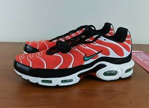 online store d0fc3 9bbed Details about Nike Air Max Plus Mens Team Orange Green Black Running Shoes  852630-801 Size 8.5