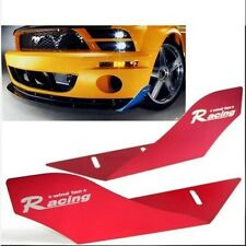 CAR RACING WIND FAN ALUMINUM BUMPER SPLITTER SPOILER WING X 2 PIECES RED
