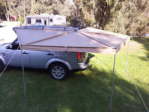 Image is loading NEW-WING-AWNING-2-5-M-LONG-RIP- & NEW WING AWNING 2.5 M LONG RIP STOP SKYWING BATWING ROOF TOP TENT ...