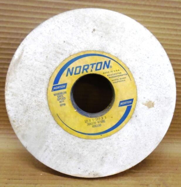 "NORTON 12/"" X 1//2/"" X 3/"" GRINDING WHEEL 38A100 L8VBE"