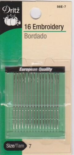 Dritz hand embroidery needles 56E