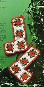 CHRISTMAS Granny Square Earrings/Croch<wbr/>et Pattern