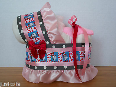 DR SEUSS CAT IN THE HAT GIRL DIAPER BASSINET BABY SHOWER TABLE DECORATION GIFT