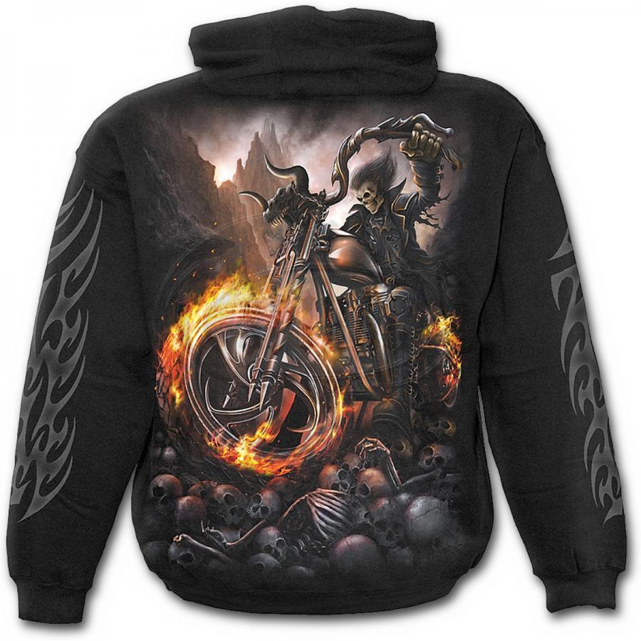 Dto 20%   Sweatshirt Guy Spiral Hood Wheels of Fire -TR333800- Rock, Metal
