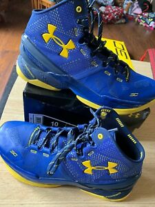 uk availability 29aa0 074b9 Details about Under Armour Golden State Warriors Steph Curry 2 Size 10 UA  MVP Finals GS 9.5 9
