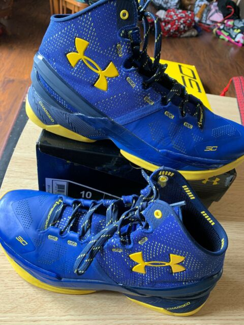 watch 6a20d 7ada2 Under Armour Golden State Warriors Steph Curry 2 Size 10 UA MVP Finals GS  9.5 9