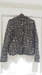 Jacket Successivo Black Tweed Taglia 8 bfY76gy