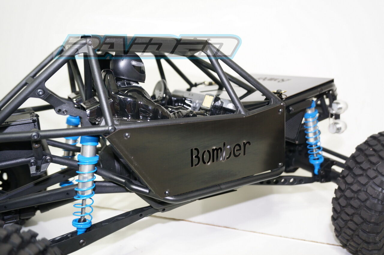 Axial RR10 Bomber 90048 90053 Steel Front+Side+Roof Body Armor Panel Panel Panel Guard BK e868e3