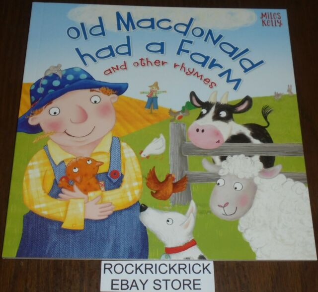OLD MACDONALD HAD A FARM AND OTHER RHYMES BOOK (17cm X 17cm) 2019 BRAND NEW
