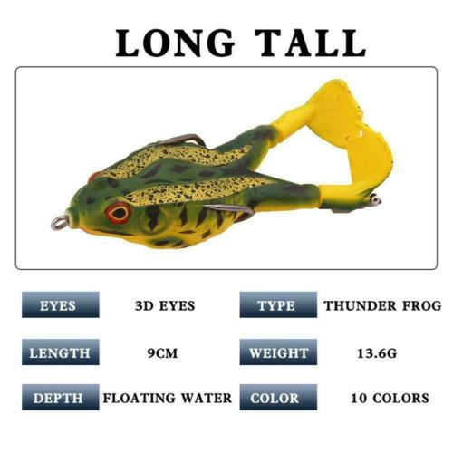 Double Propellers Frog Soft Bait Soft Silicone Fishing Hot Lures G4Z3