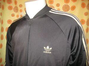 Ancienne VESTE de SURVÊTEMENT ADIDAS NOIR et OR TL Jogging Jacket