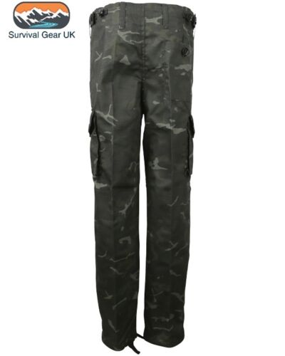 BTP Black Childrens Kids Camoulage Trousers Army Military 11-12 Years