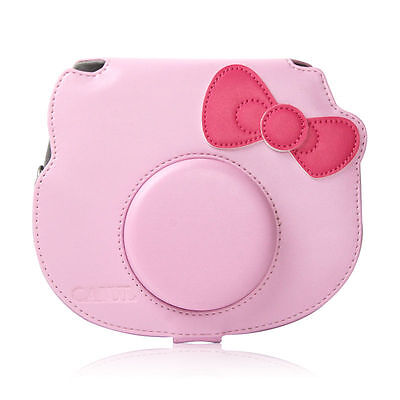 New Cartoon Leather Camera Case Bag For Fujifilm Fuji Instax mini Hello Kitty 40