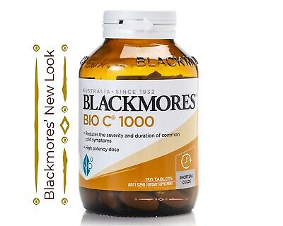 Blackmores Bio C 1000mg 150 Tablets Vitamin C Shorterns Colds High Potency Dose 93807937 Ebay