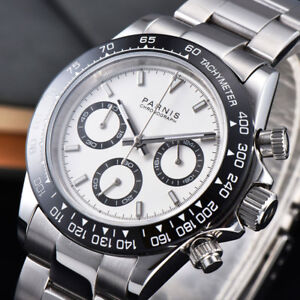 39mm-PARNIS-Weisses-Zifferblatt-Saphir-Kristall-Solid-Volle-Chronograph-Quarz-Herrenuhr