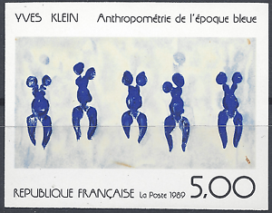 Picture-Yves-Klein-N-2561-Stamp-Non-Dentele-Imperf-1989-Neuf-Mnh