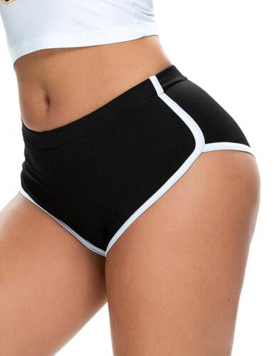 Womens Scrunch Yoga Shorts Summer Running Gym Sport Hot Pants Workout Fitness