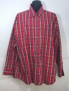 TwentyX-Shirt-Mens-XLarge-17-1-2-Button-Down-Western-Cowboy-Red-Plaid-LS-34-35
