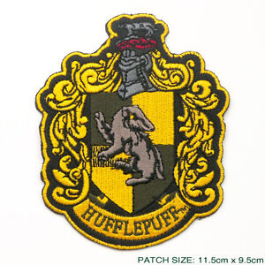HARRY-POTTER-034-HUFFLEPUFF-034-EXTRA-LARGE-Embroidered-Robe-Patch