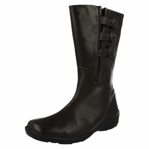 Ladies Easy B Small Heel Extra//Extremely Wide Zip Up Leather Boots Sydney
