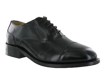 MENS ALL LEATHER SOLES FORMAL WEDDING DRESS SMART BLACK KENSINGTON SHOES 6-14