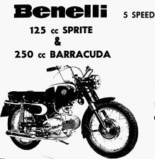 CD MANUALE OFFICINA+RICAMBI+MANUTEN. BENELLI MOTOBI 125-200 SPRITE 250 BARRACUDA