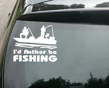Rather Be Fishing Funny Car/Window JDM VW EURO Vinyl Decal Sticker