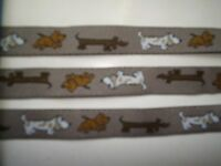 Beagle & Dachshund & Brown Dog Ribbon - Jacquard - 10 Yard Length - 5/8 Width