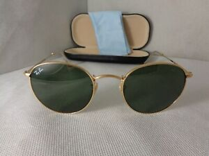9c33cf7f77 Ray-Ban sunglasses RB 3447 ROUND METAL 001 50-21 3N Gold G-15 Made ...