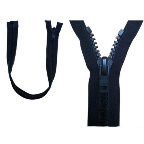 """YKK zip aperto 38cm 15/"""" tutte in Plastica non arrugginisce 10 peso Slider Heavy Duty"""