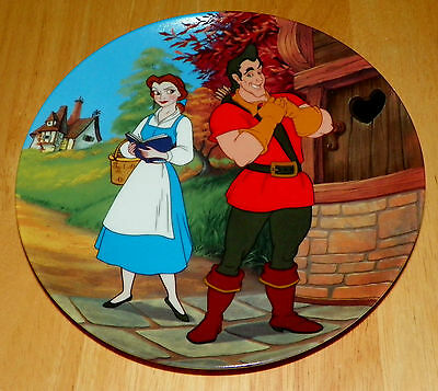 Disney Collector Plate Beauty and the Beast Mismatch Box & COA