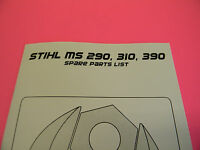 Stihl Chainsaw Ms290 Ms310 Ms390 Spare Parts List --------------------- Manual89