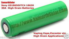 Sony US18650VTC4 Li-Ion Rechargeable 2100mAh 30A High Drain Batteries Vape