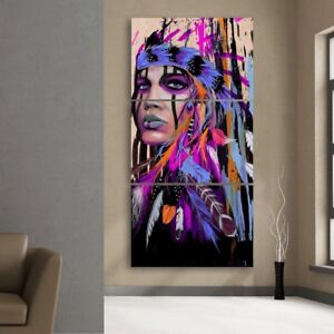 Image Is Loading Lady Native American Indian Wall Decor Art Painting