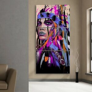 Lady Native American Indian Wall Decor Art Painting Picture Print ...