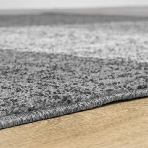 Teppich für das Wohnzimmer Kariert Modern Grau Schwarz Braun Meliert