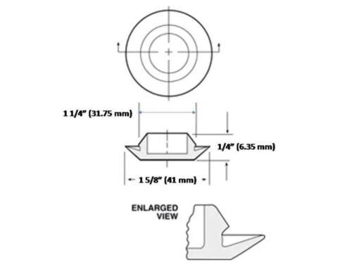 Sheet Metal Auto Body Panel 1-1//4 Inch Black Plastic FLUSH MOUNT HOLE PLUG 4