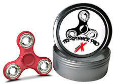 Fidget Spinner Tri-Spinner Pro Slim with Metal Case Tin SMOOTH ABEC 9 TOY Red