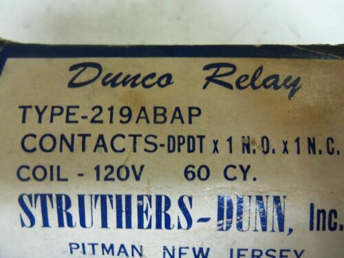 STRUTHERS-DUNN 219ABAP *NEW IN BOX*