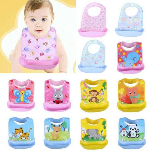 Baby Feeding Bibs Boy Girls Waterproof Smock Apron Saliva Towel Bib Detachable