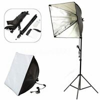 Photo Studio Set Photography Continuous Lighting Kit Softbox + Light Stand+Bulb