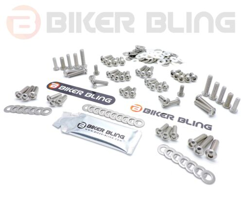 Honda XL125V Varadero 2006 stainless steel screen /& motorcycle fairing bolts kit