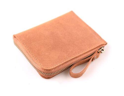 Personalize Genuine Leather Men Wallet Vintage Purse Slim Front Pocket Card Gift