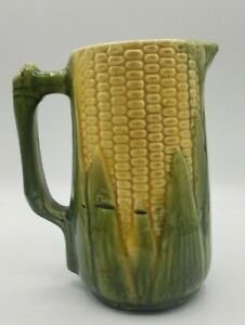 Antique-C-1910-Majolica-Pottery-52-Corn-Cobb-with-husk-7-3-4-034