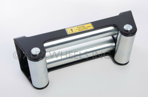 """2 Pack Heavy Duty Winch Roller Fairlead 10/"""" Universal 4 Way Roller Cable Guide"""